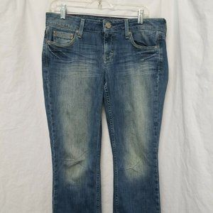Ladies American Eagle Hipster Blue Jeans Size 10 R